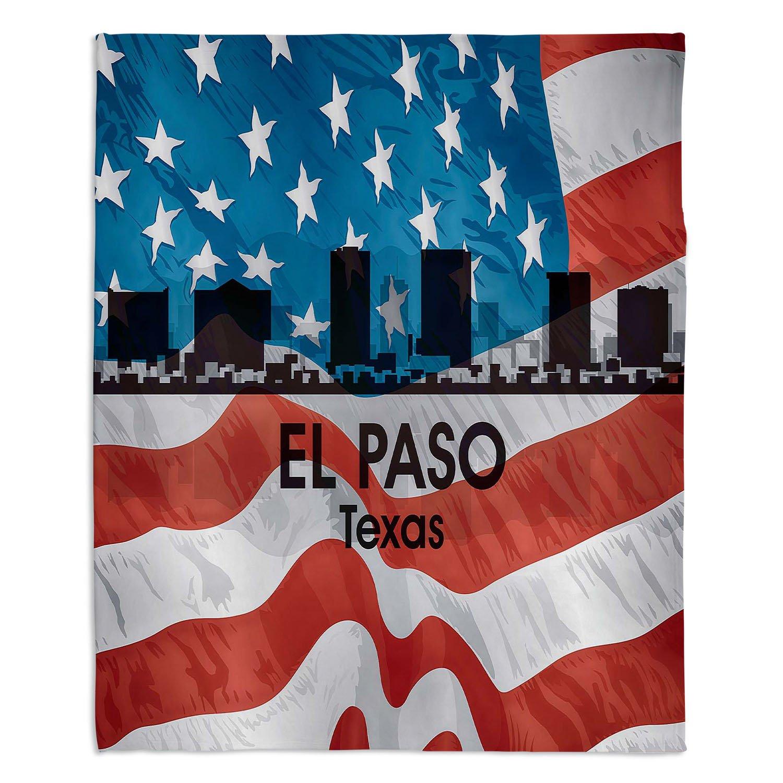 ブランケットウルトラソフトFuzzy 4サイズホーム装飾寝室ソファスローブランケットダイアノウチェデザインズ – Artist Angelina Vick – City VI El Paso Texas Large 80