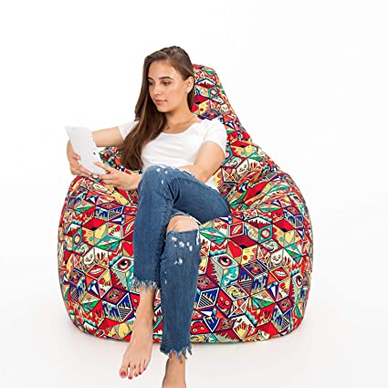 Awesome Aart Store Digital Canvas Printed Bean Bag With Filled Beans Perfect Solution For Home Office Decor Machost Co Dining Chair Design Ideas Machostcouk