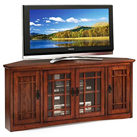 Amazon Com Leick 82386 Mission Corner Tv Stand 56 Kitchen Dining