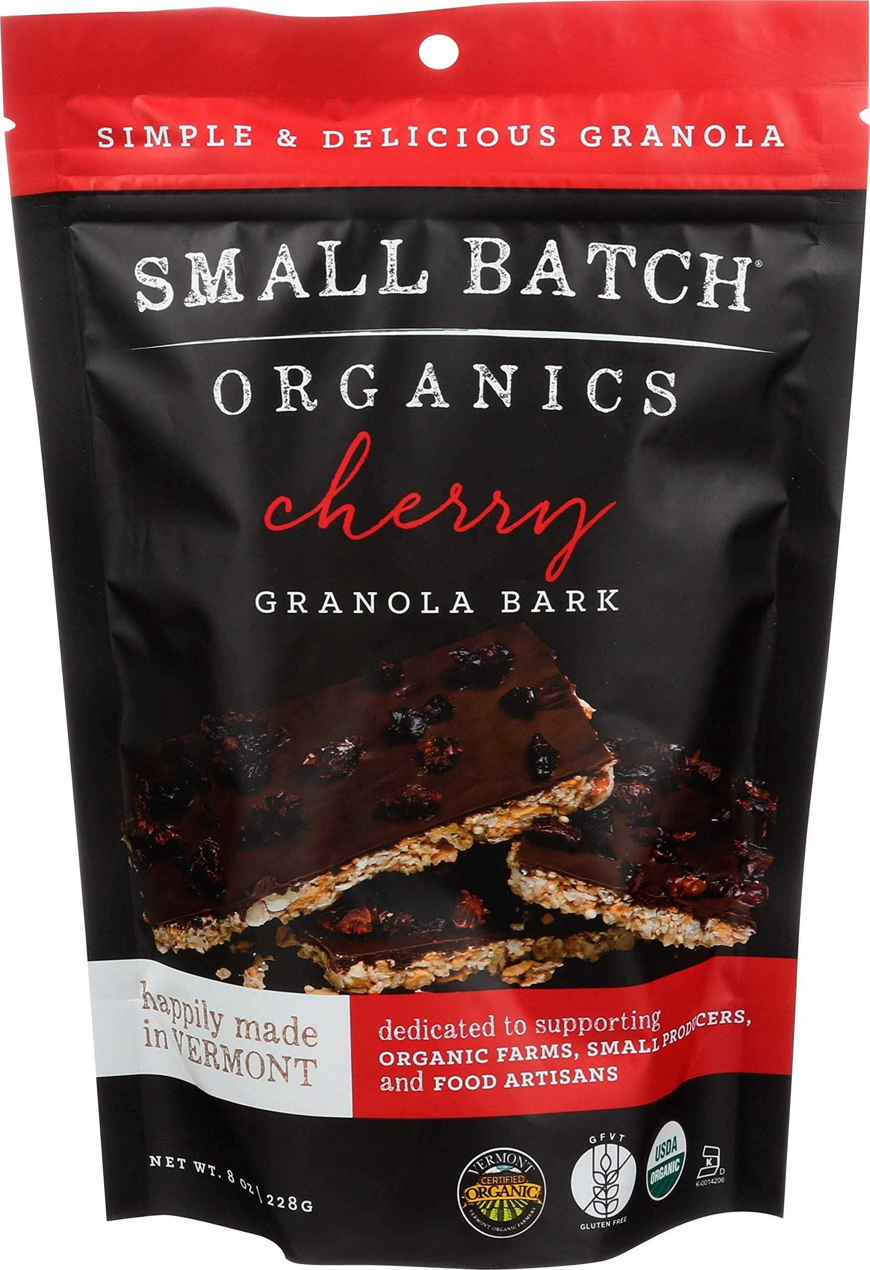SMALL BATCH ORGANICS Organic Cherry Bark Granola, 8 OZ by Small Batch Organics (Image #1)