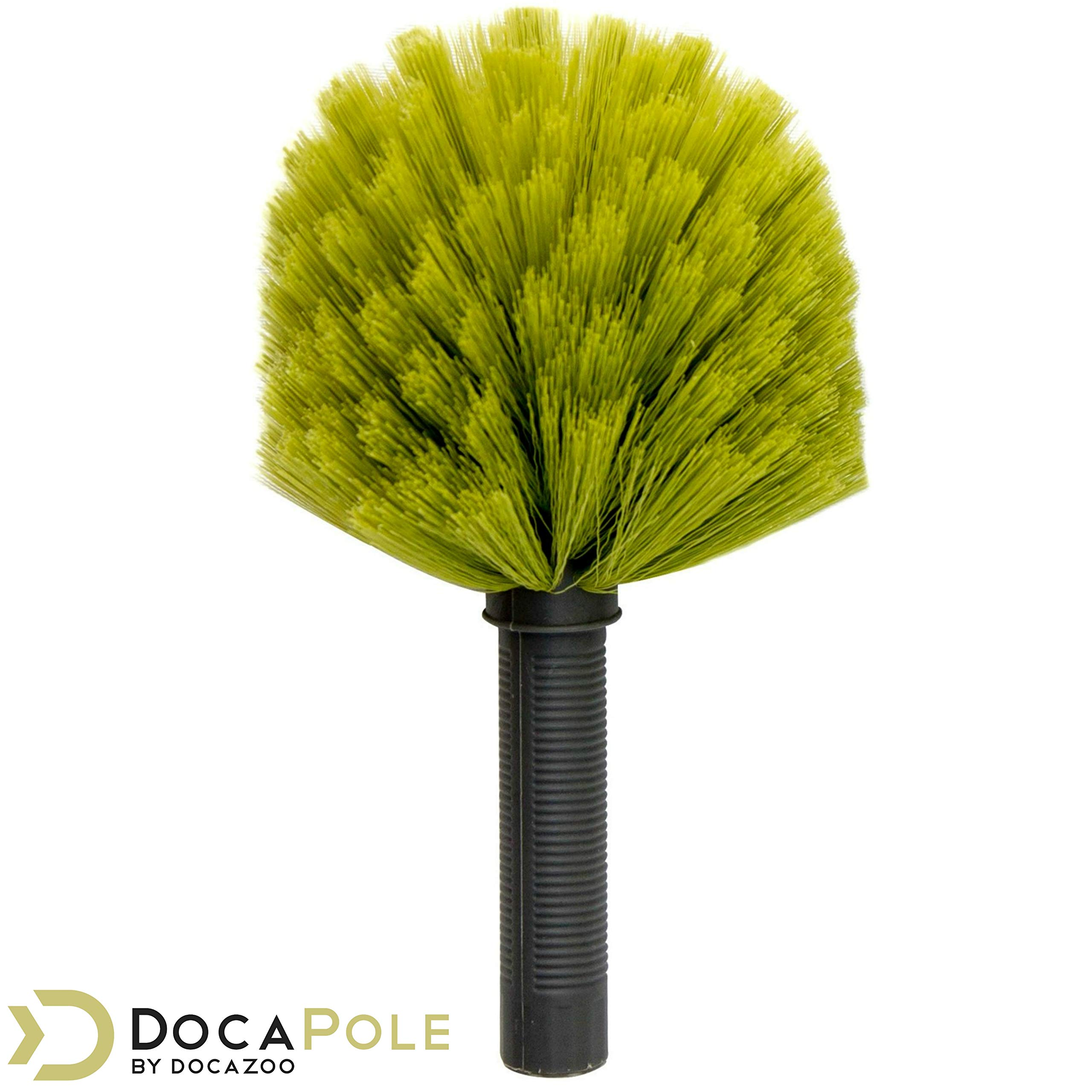 DocaPole Dusting Kit for Extension Pole or by Hand | Cleaning Kit Includes 3 Dusting Attachments | Cobweb Duster | Microfiber Feather Duster | Flexible Chenille Ceiling Fan Duster by DOCAZOO (Image #4)