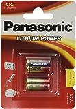Panasonic CR2 Pila al litio per fotocamera 750 mAh 3 V, confezione da 2