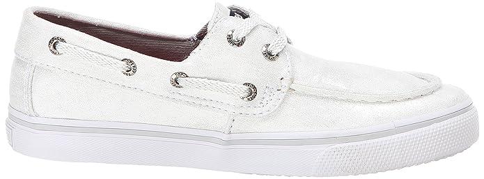 Sperry Top-Sider Bahama Boat Shoe (Little Kid/Big Kid),White/Silver,1 M US  Little Kid: Amazon.ca: Shoes & Handbags