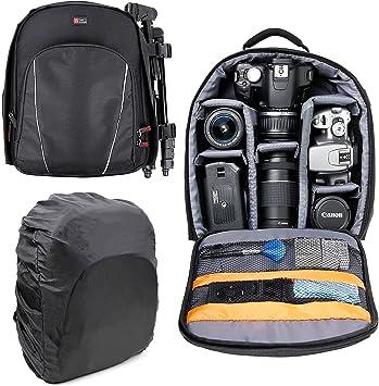 DURAGADGET Mochila para Cámaras DSLR/SLR Canon | Nikon | Sony ...