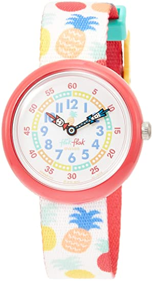Flik Flak Reloj Analógico para Niñas de Cuarzo con Correa en Tela FBNP110: Amazon.es: Relojes