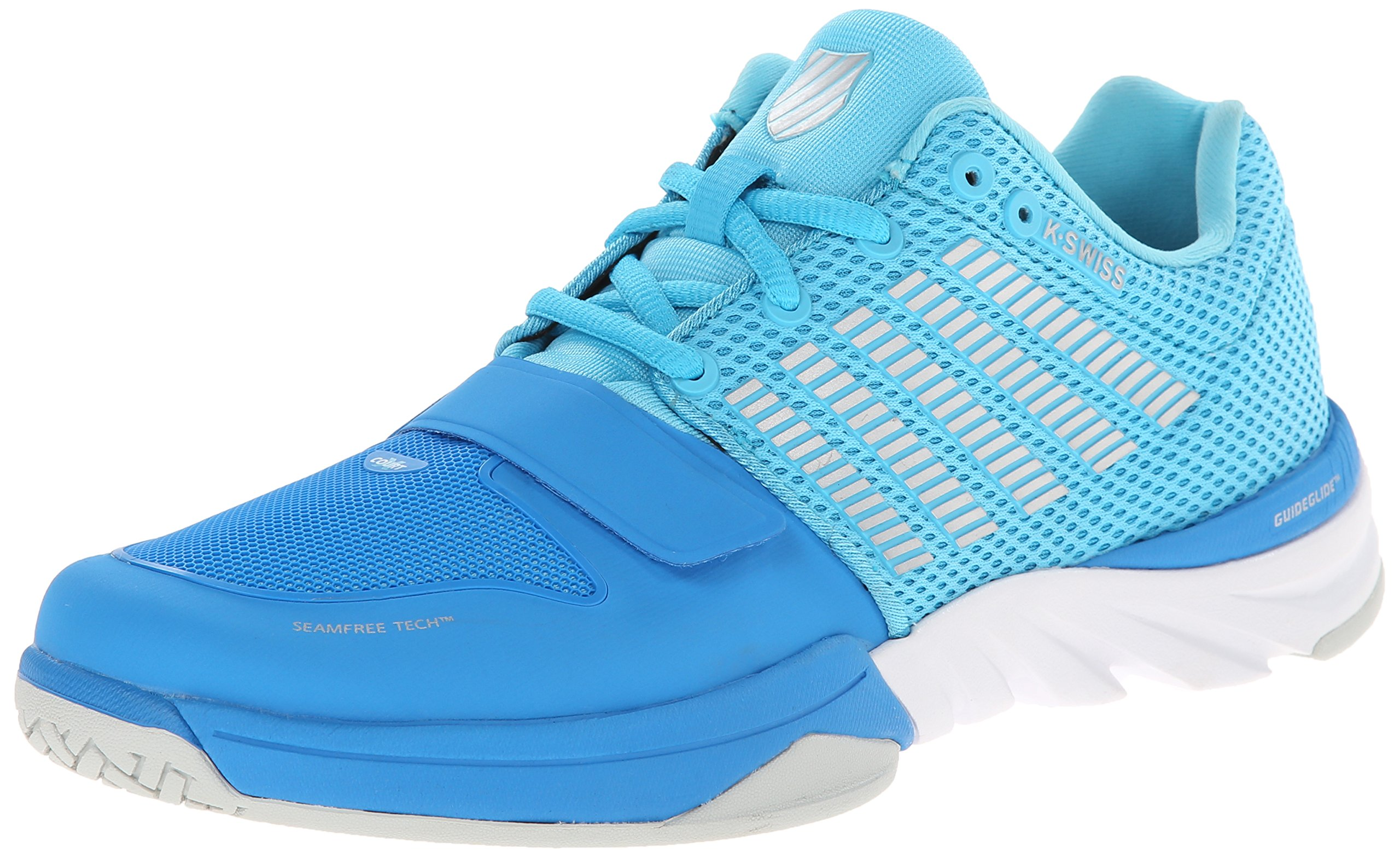 K-Swiss Women's X Court Cross-Training Shoe, Blue Aster/Bachelor Button, 8.5 M US