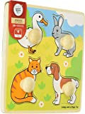Bigjigs Toys My First Peg Puzzle - Pets
