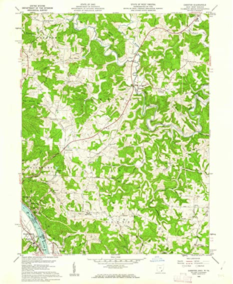 Amazon Com Yellowmaps Chester Oh Topo Map 1 24000 Scale 7 5 X