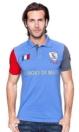 Giorgio Di Mare Polo de manga corta azul XX-Large: Amazon.es: Ropa ...