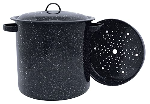 Granite Ware Tamale Pot With Steamer Insert
