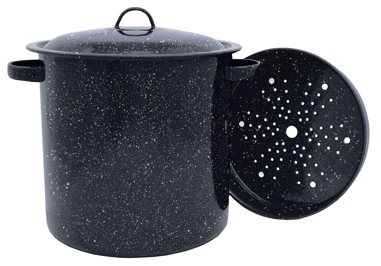 Granite Ware Tamale Pot with Steamer Insert, 15.5-Quart