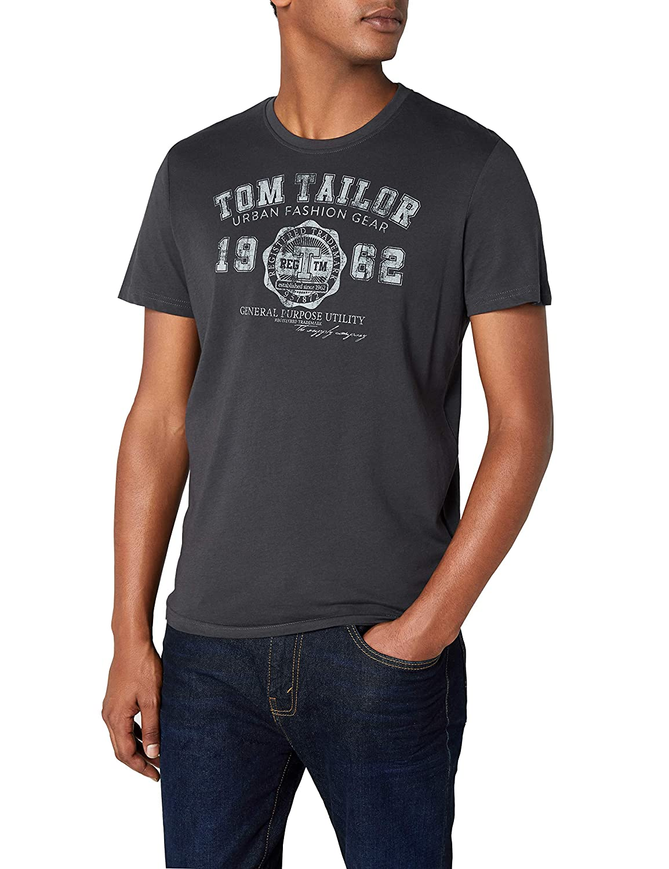 2137ffd81c Tom Tailor - Logo Tee/412, T-Shirt da Uomo
