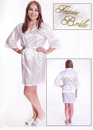 Alandra KIM - Kimono acolchado para novia, color blanco y marfil: Amazon.es: Juguetes y juegos