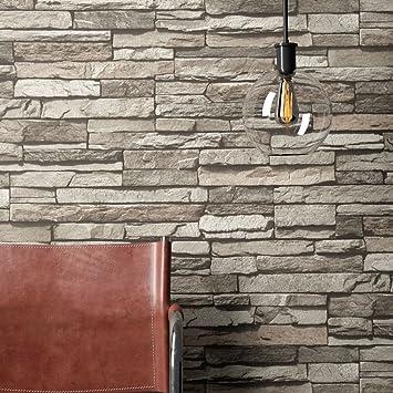 Steintapete Vlies Grau Edel | schöne edle Tapete im Steinmauer Design |  moderne 3D Optik für Wohnzimmer, Schlafzimmer oder Küche inklusive ...