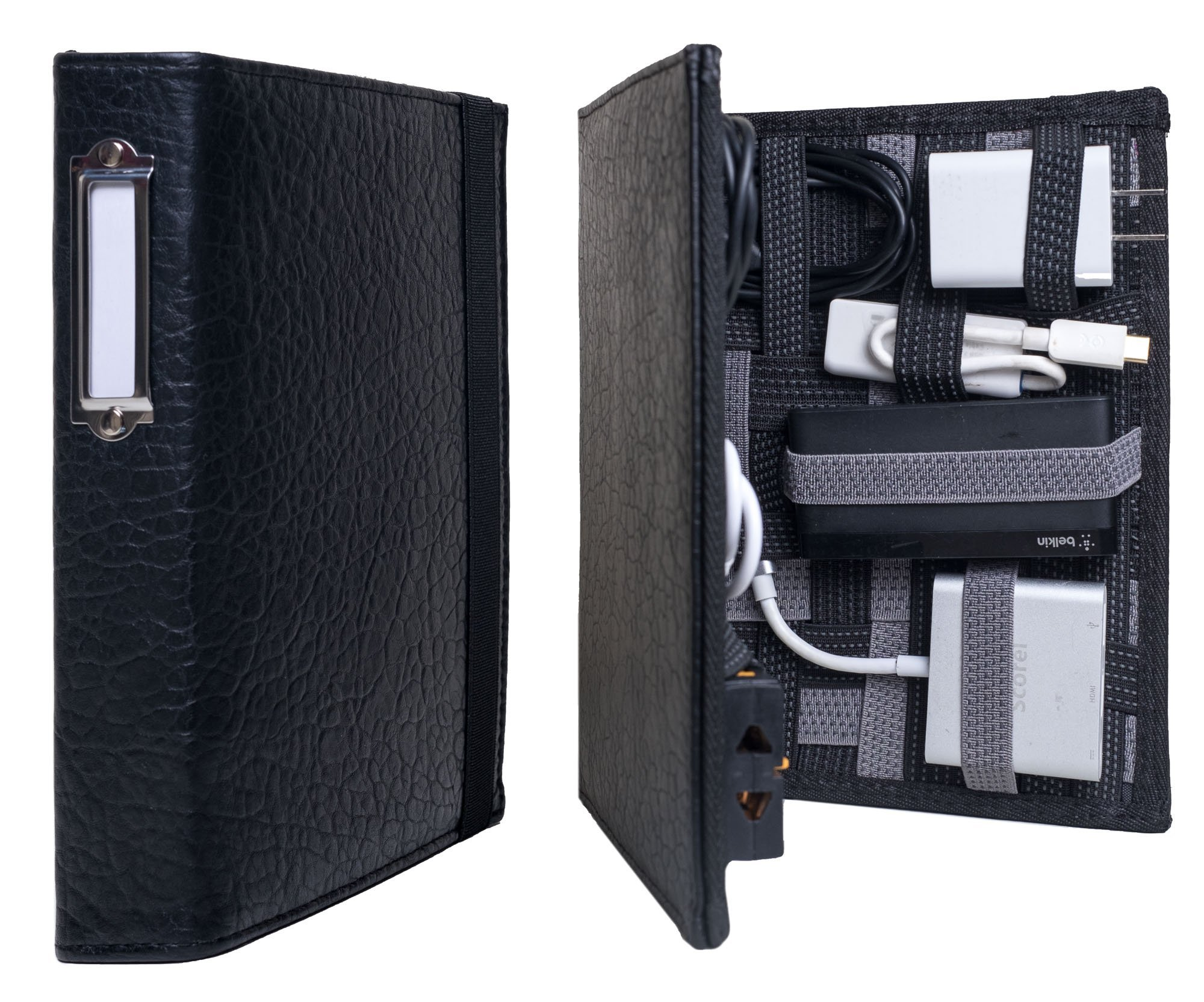 Strapbook Executive - Leather Multipurpose Elastic Grid Book Organizer