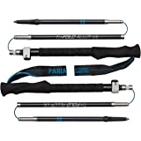 Tri-Fold Alloy UL Trekking Poles / Sticks - Folding, Collapsible, Adjustable, and Ultralight - Perfect for Hiking, Walking, Backpacking and Snowshoeing