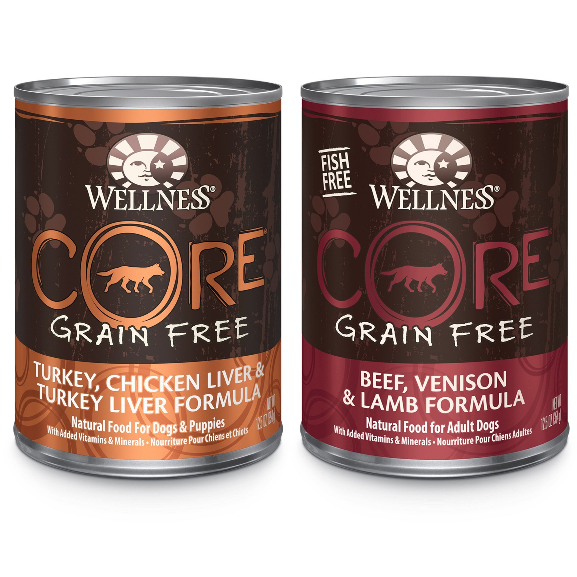 Wellness Core Natural Wet Grain Free Canned Dog Food, Best Sellers Variety Pack, 12.5-Ounce Can (Pack Of 18) by WELLNESS CORE