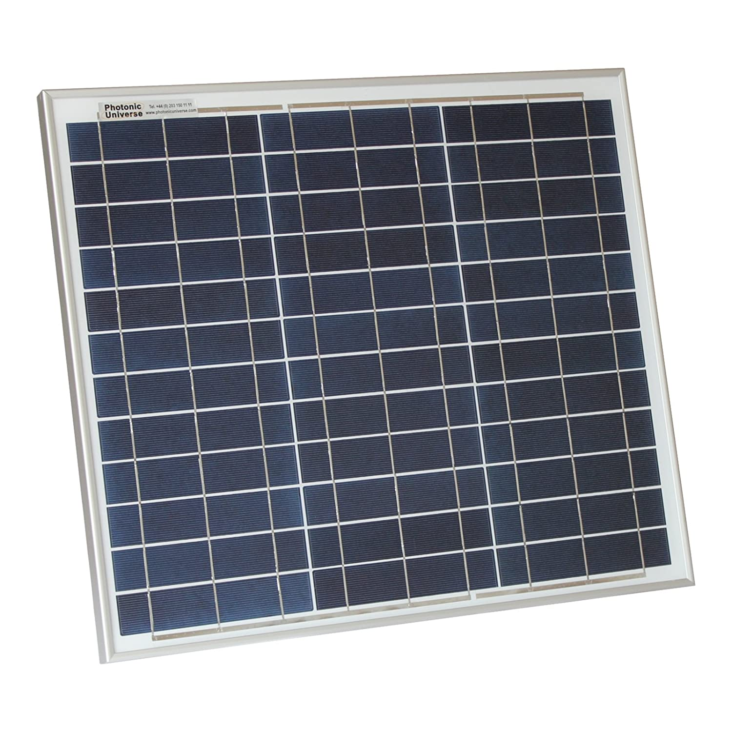 30W Photonic Universe solar panel with 5m cable for a camper, caravan, boat or any other 12V system (30 watt) BST-30P