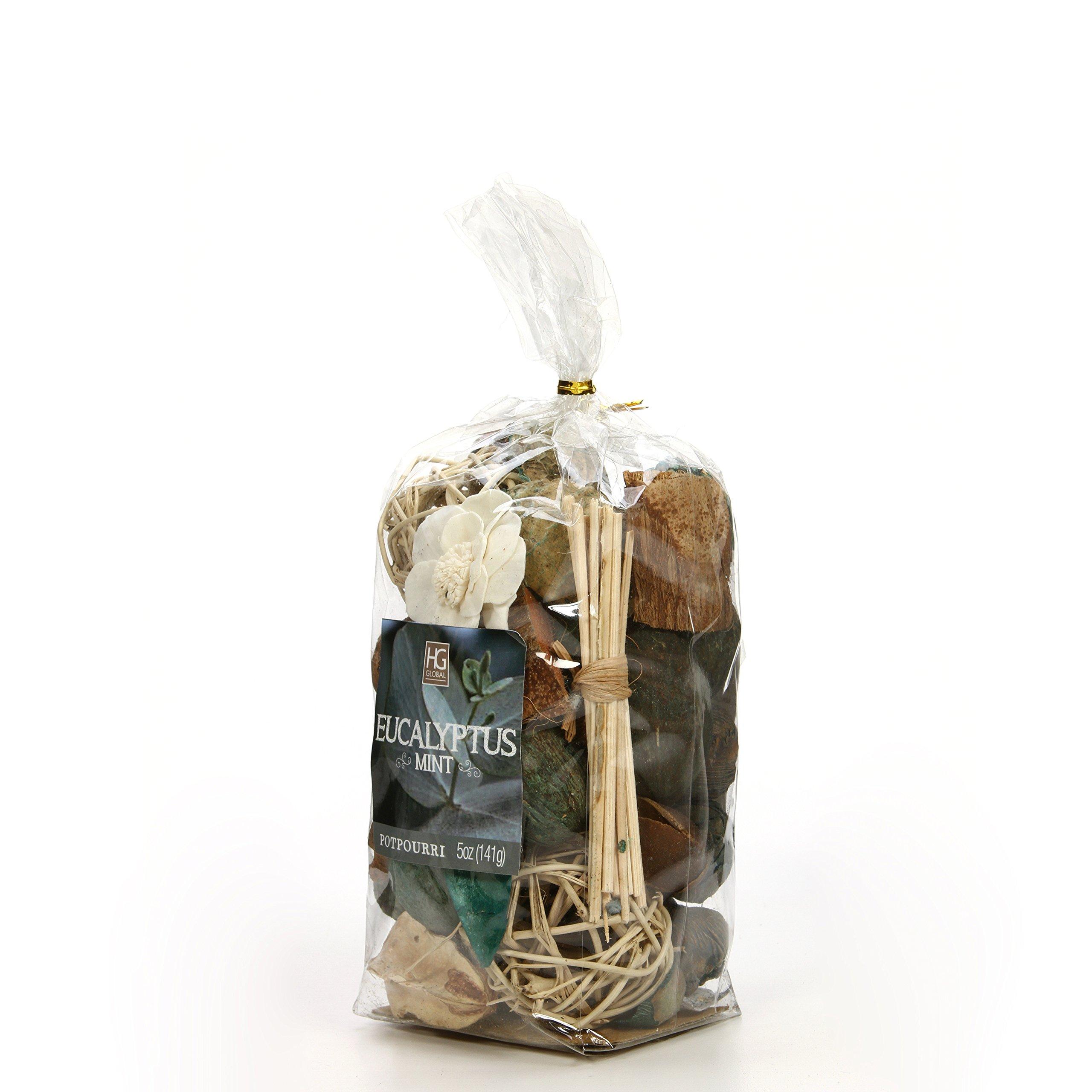 Hosley Set of 6 Bags Eucalyptus Mint Chunky Potpourri 5 Ounce Each. Ideal for Party Favor Weddings spa Reiki Meditation Bathroom Settings. O4 by Hosley (Image #3)