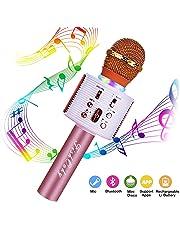 FishOaky Micrófono Karaoke Bluetooth, Microfono Inalámbrico Altavoces, Portátil Karaoke para Niños Cantar, Función de Eco, Compatible con Android/iOS o Teléfono Inteligente