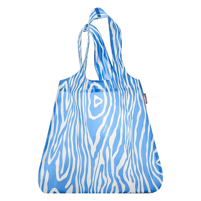 reisenthel Mini Maxi Shopper, Borsa della Spesa, per Shopping, Blu / Bianco a Strisce, AT0013