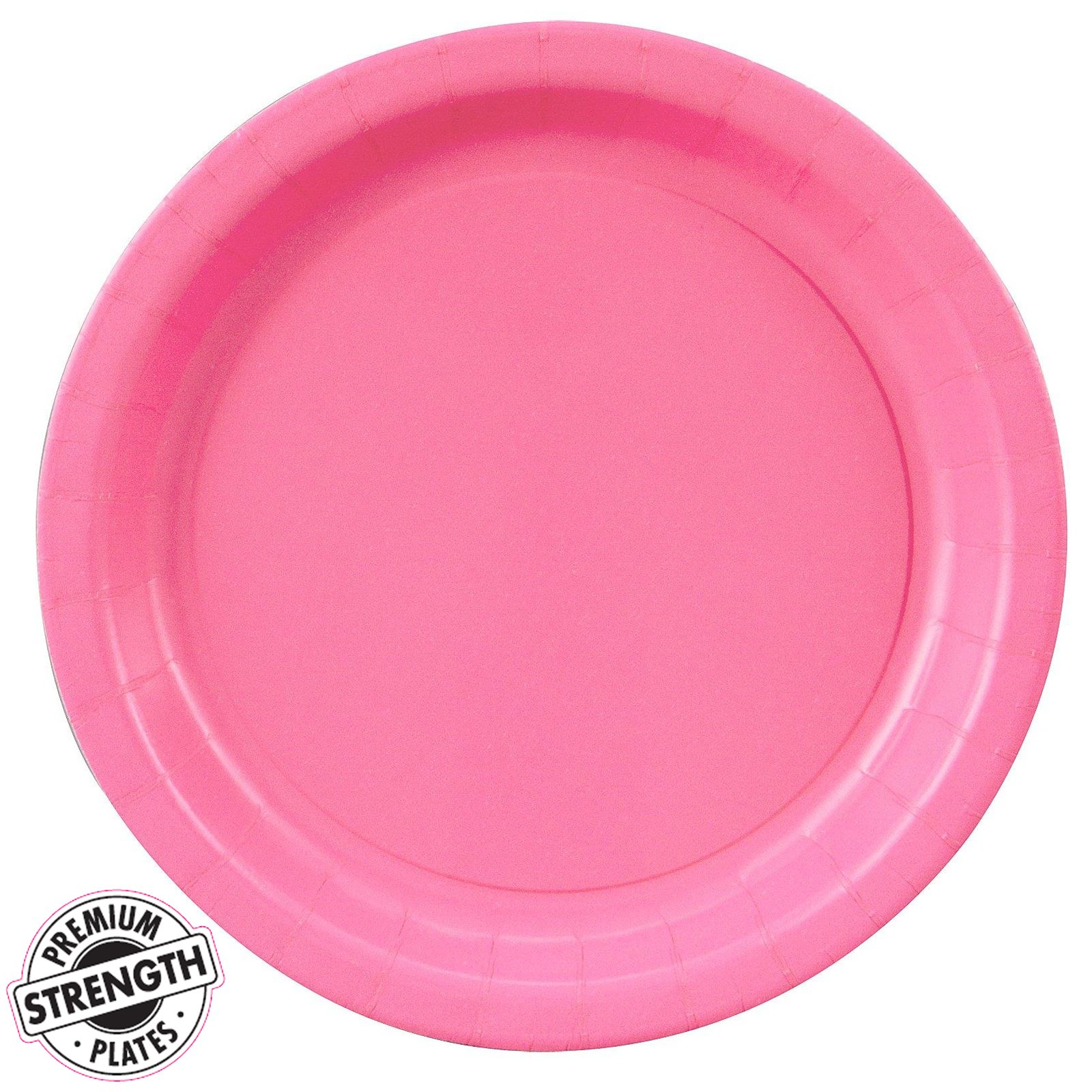 BirthdayExpress Hot Pink Party Supplies Dinner Plate (48)