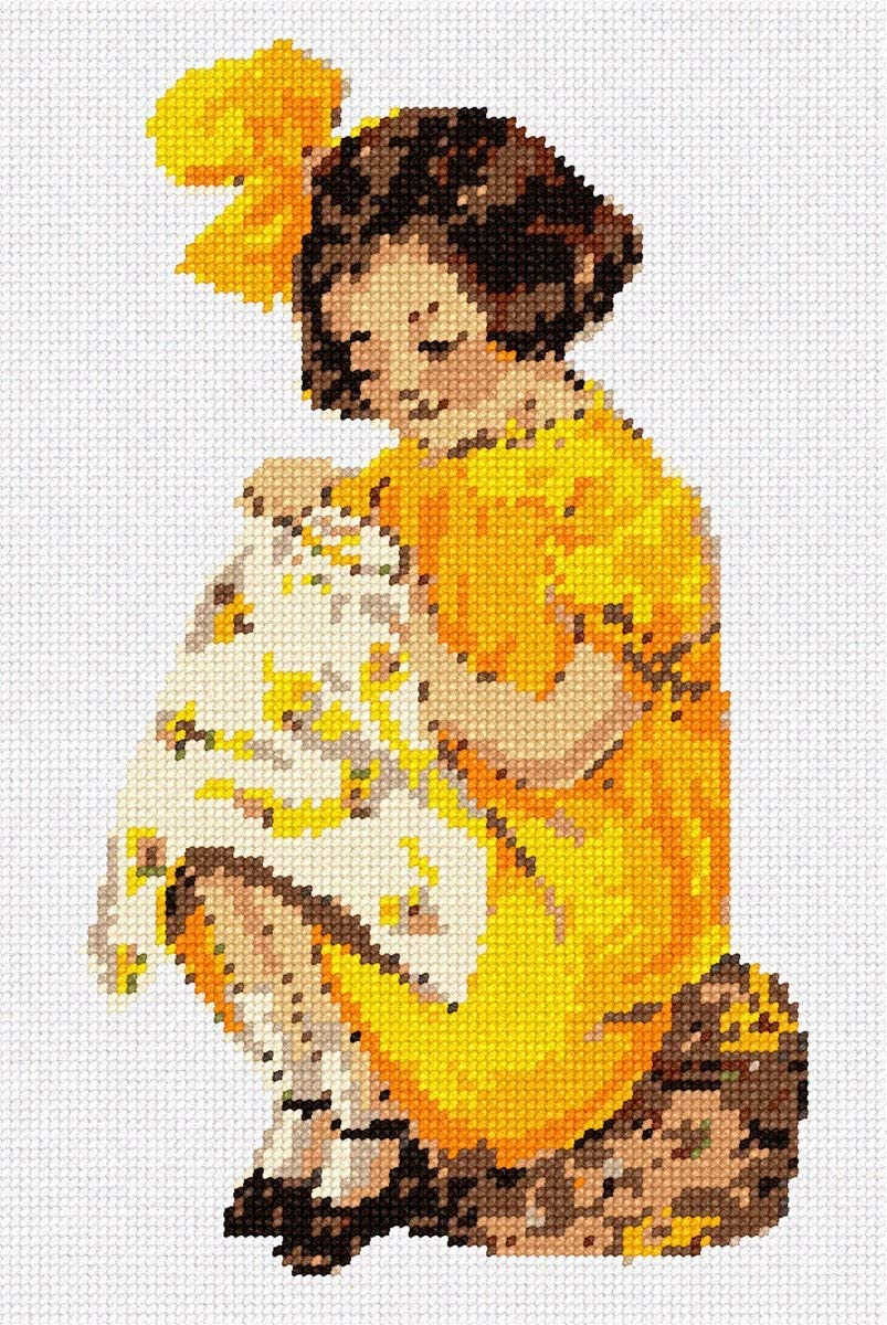 (Regular (Canvas & Thread)) - Katie with Embroidery Needlepoint Kit