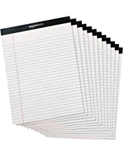 AmazonBasics Legal/Wide Ruled 8-1/2 by 11-3/4 Legal Pad - White (50 Sheet Paper Pads, 12 pack)