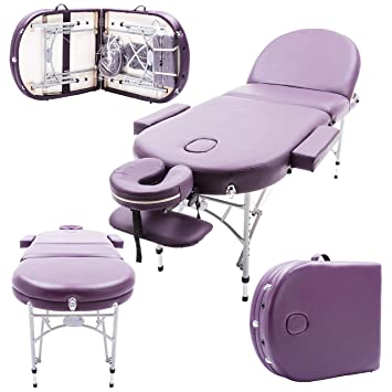 Massage Imperial Professional Lightweight Purple Consort Chatworth Aluminium Portable Massage Couch Table 7cm 3