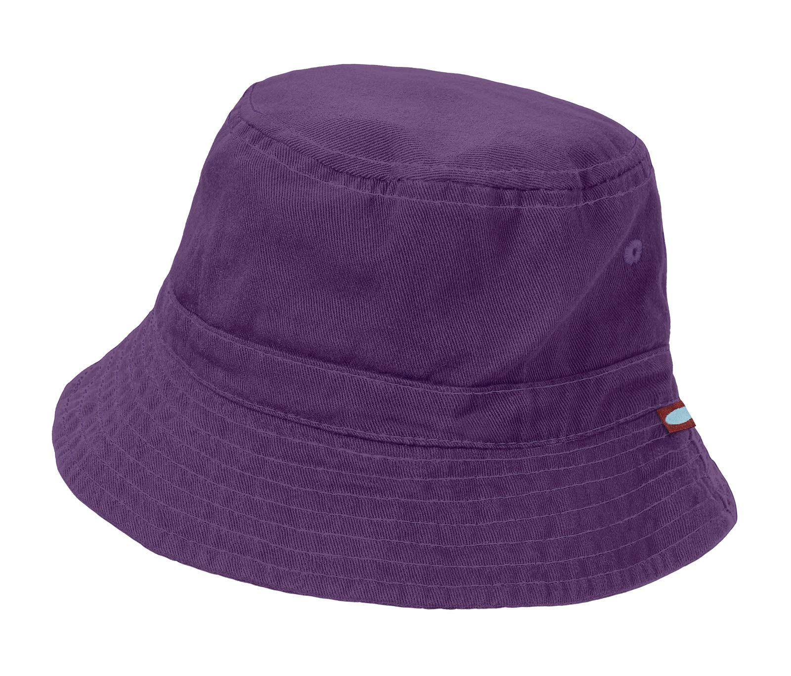 City Threads Little Boys' and Girls' Solid Wharf Hat Bucket Hat for Sun Protection SPF Beach Summer - Purple - XL(4-6)