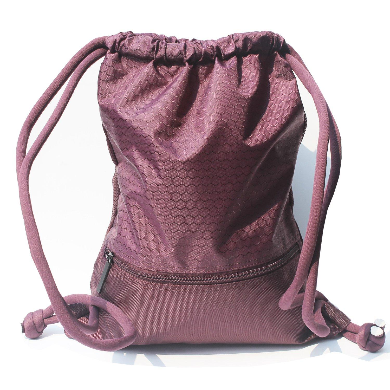 Esvan 防水ジムバック 大型巾着パックパック ジムバッグ サックパック スポーツ 旅行 バスケットボール ヨガ ランニング 9色 2サイズ B07535R5D1  Size L  Claret