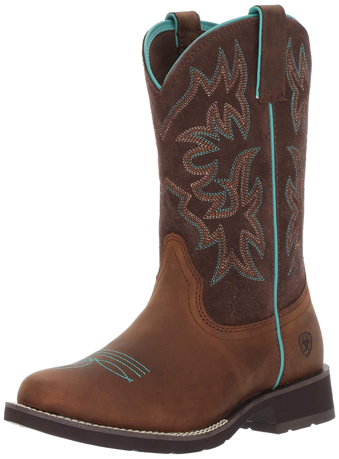 Ariat Women's Delilah Round Toe Work Boot B01MZFB6PV 7 B(M) US|Distressed Brown