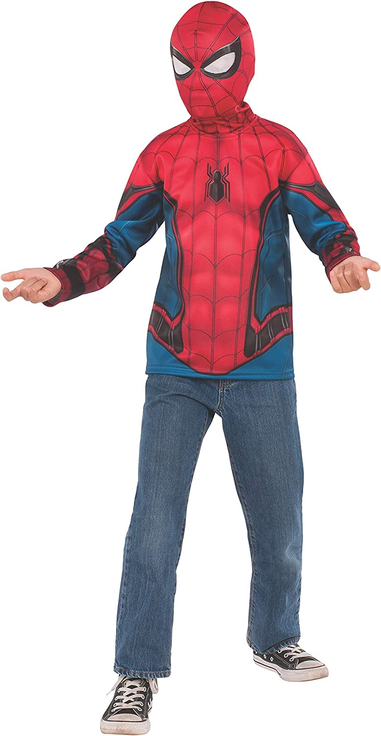 Spider-Man Far from Home: Spider-Man Kids Costume Top (Red/Blue Suit)