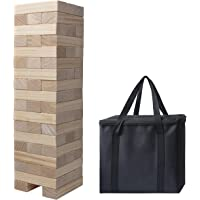 Giant Tumble Tower, Pine Wooden Topple Game Classic Block Stacking Tower for Kids Adults Family,54 PCS