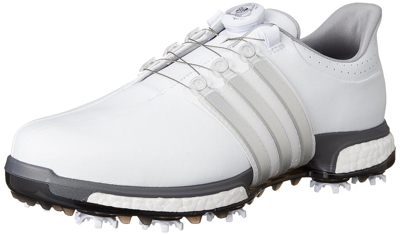 ホワイト/シルバーメタリック/ダークシルバーメタリック 3E 24.5 B01ANE8RNE ソールの厚さ:3cm ゴルフシューズ [アディダス] メンズ