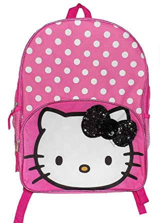 895c79634c55 Image Unavailable. Image not available for. Color  Sanrio Hello Kitty  16 quot  Kids Backpack ...