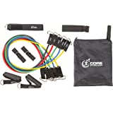 Core Fitness Zone Resistance Band Set. Your Home & Travel Gym in One Carry Bag. Perfect for Small Spaces! Exercise Bands with Attachments for Great Full Body Workouts to Strengthen All Muscle Groups