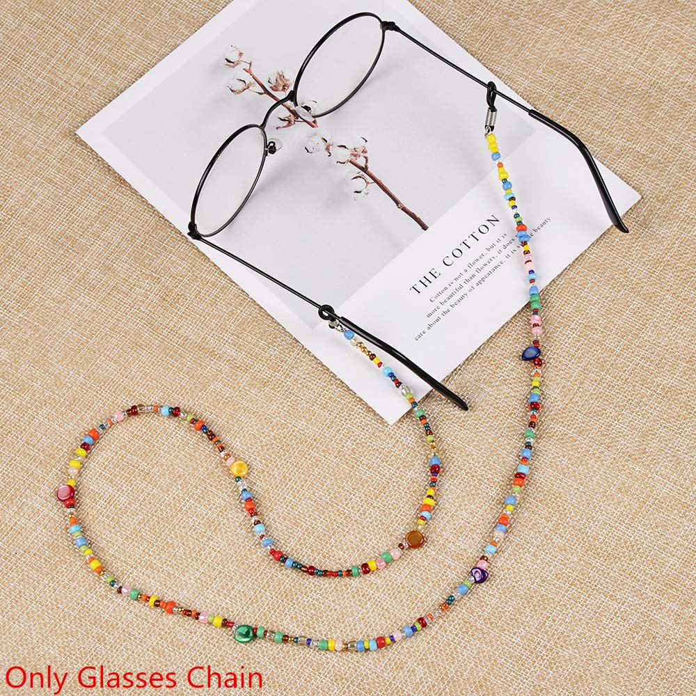 zhiyi-online Donne variopinte catenine occhiali supporto della lettura di vetro del fermo da sole Eyewear collana Strap