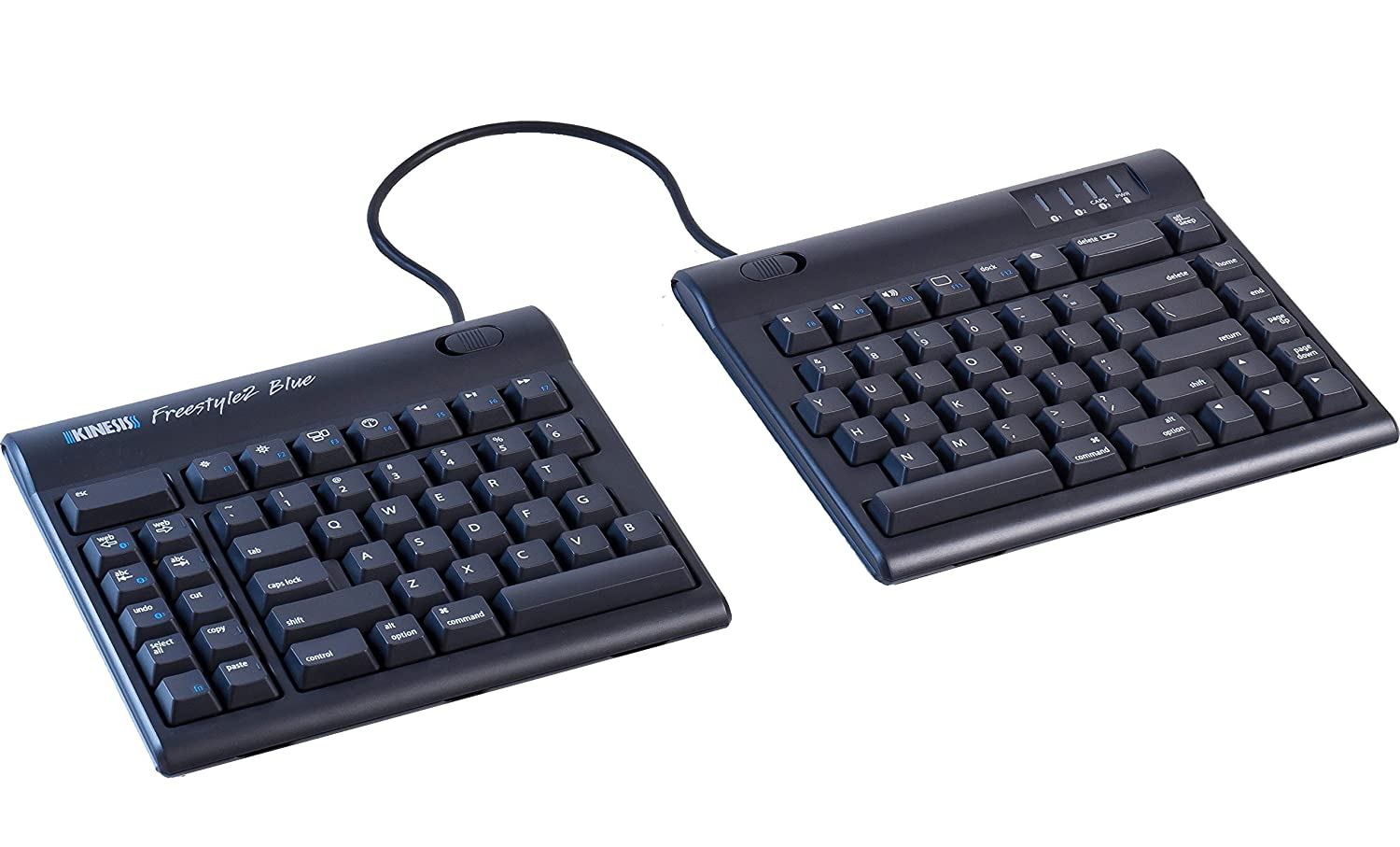 Computer input devices has introduced freestyle a range - Amazon Com Kinesis Freestyle2 Blue Wireless Ergonomic Keyboard For Mac 9 Standard Separation Computers Accessories