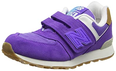 New Balance Unisex-Kinder 574 Hook and Loop Sneakers, Violett ...