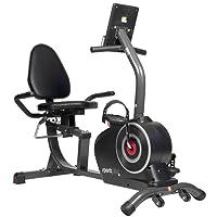 SportPlus - Vélo d'Appartement Ergomètre - Position assise ultra Confortable - Compatible avec l'Application Cardiofit - 24 niv. de Resistances - Poids Utilisateur max 110 kg - Masse d'inertie : 9kg