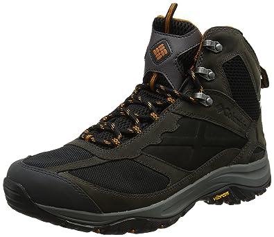 Columbia Terrebonne Mid Outdry, Chaussures de Randonnée Hautes Homme, Noir (Black/Bright Copper), 41 EU