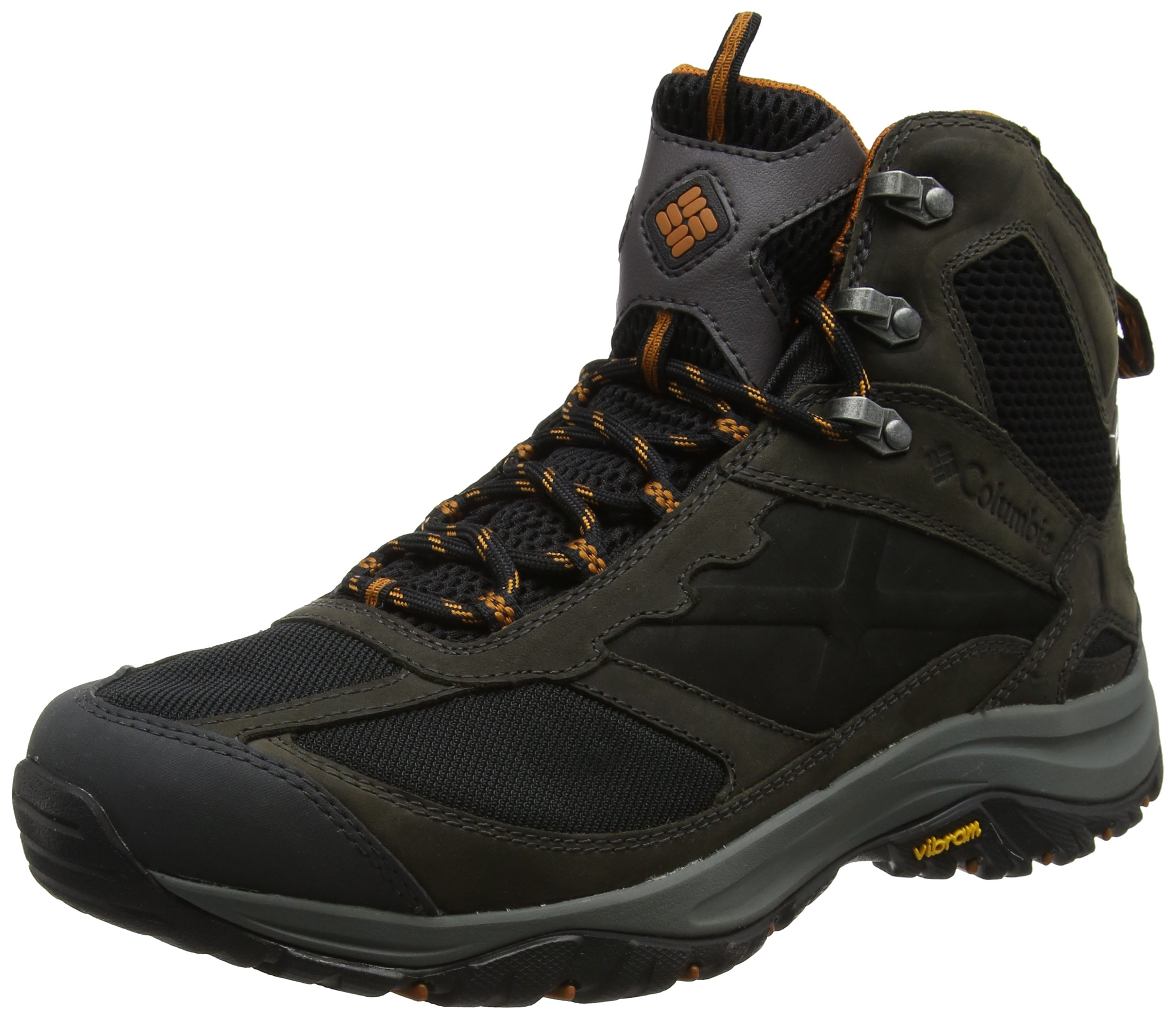 Columbia Men's Terrebonne Mid Outdry Hiking Boot, Black, Bright Copper, 11 D US by Columbia