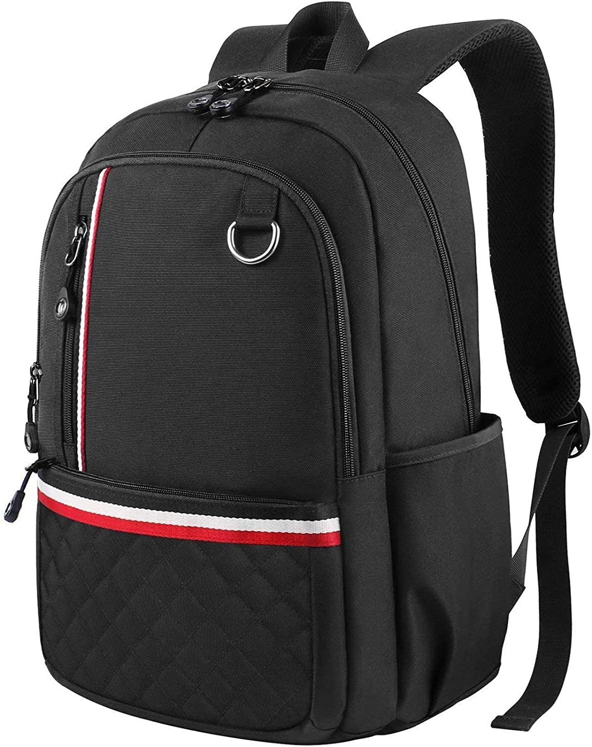 School Backpack For Teen Girls Boys, Lightweight Laptop Backpack Water-Resistant Slim School Bookbag for Elementary High School Middle School College Students, Fits 14 inch Laptop-Black