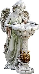 Roman Joseph's Studio Solar Angel with Birdbath Statue, 23