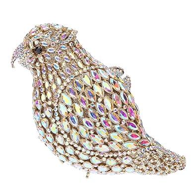 f7b95523a28 Fawziya Parrot Crystal Clutch Purses And Handbags For Women Evening Bag-AB  gold