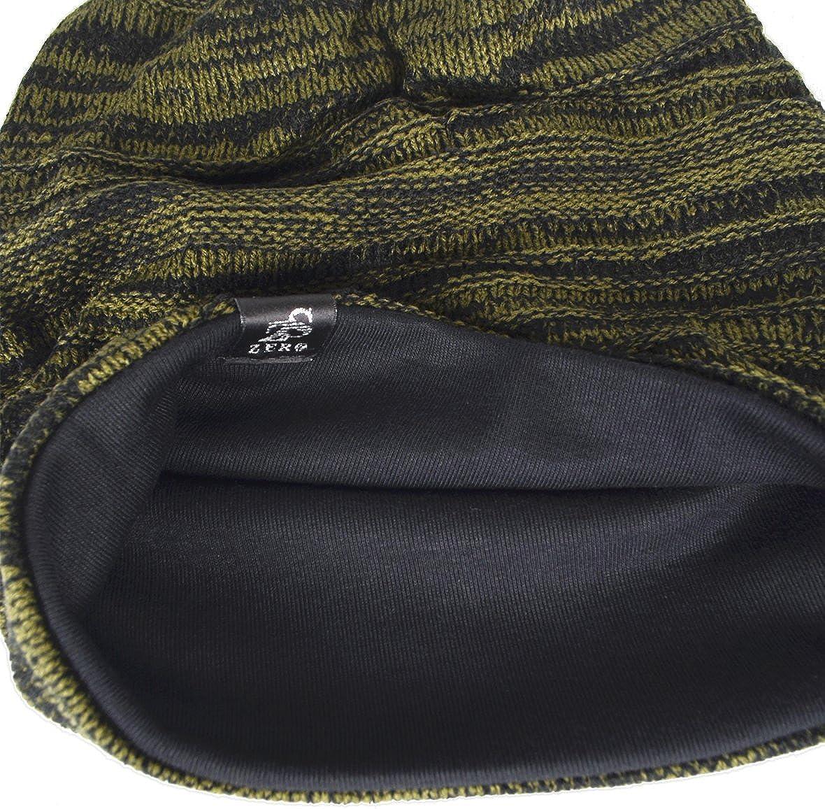 HISSHE Uomo Knit Beanie Slouch Baggy Calotta depoca lungo Hip-Hop cappello di inverno