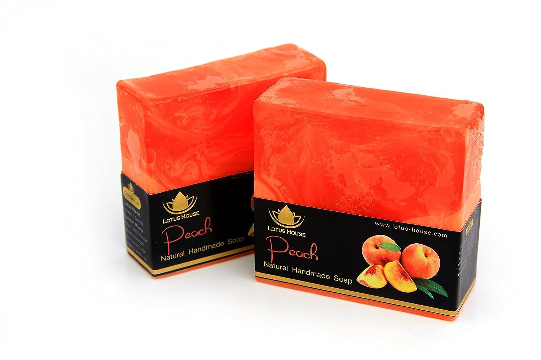 Lotus House Peach Natural Handmade Soap (300g) / 3 Bars