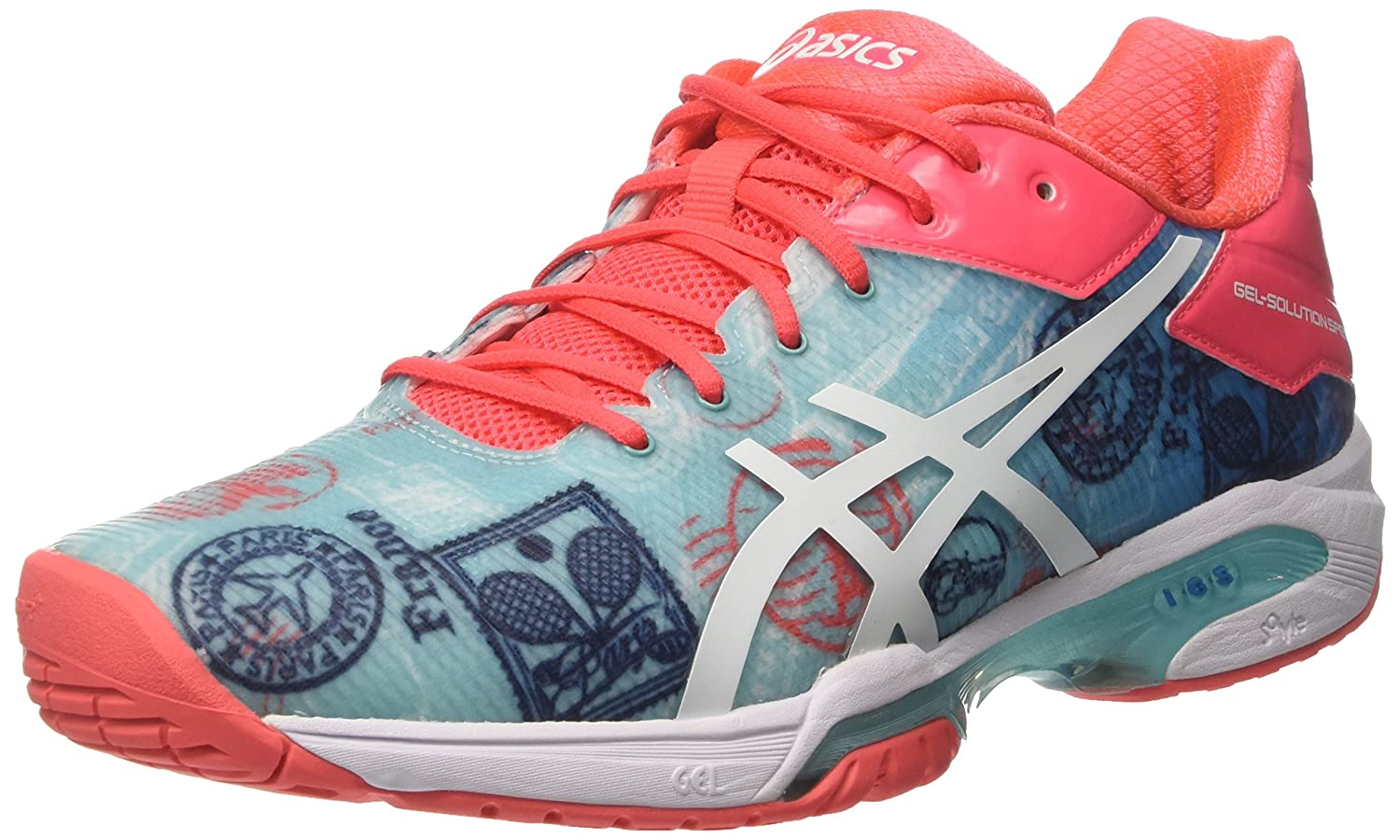 Asics Gel-Solution Speed 3 L.e. Paris, Zapatillas de Deporte para Mujer 40.5 EU|Multicolor (Diva Blue/White/Dive Pink)