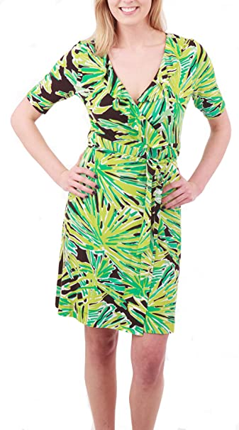 c950f3817b4d72 Lilly Pulitzer Adalie Wrap Dress, Green With Envy, Medium: Amazon.ca:  Clothing & Accessories